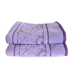 Set de 2 toallas de lavabo Acanto - Morado
