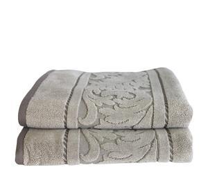 Set de 2 toallas de lavabo Acanto - Piedra