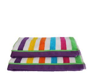 Set de 2 toallas de aseo Arco Iris