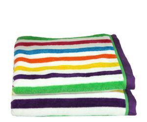 Set de 2 toallas de lavabo Arco Iris