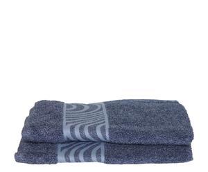 Set de 2 toallas de aseo Mouliné  - Azul