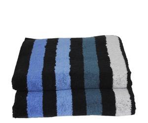 Set de 2 toallas de lavabo Cool - Azul