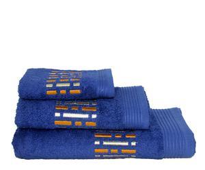 Set de 3 toallas Factory – azul marino