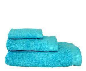 Set de 3 toallas Keops – turquesa