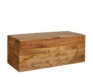 Baúl de madera de acacia