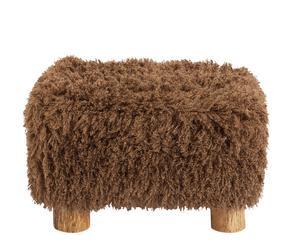 Taburete de pelo rizado marrón