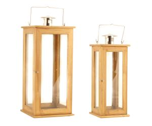 Set de 2 farolillos de madera
