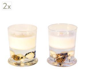 Set de 4 velas con vaso