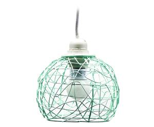 Lámpara de techo en alambre - verde agua