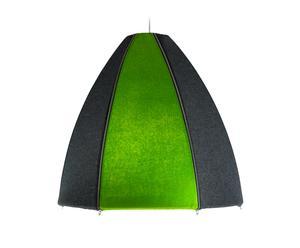 Lámpara de techo Norr – gris y verde