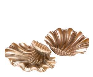 Jabonera con forma de concha de latón envejecido