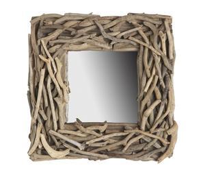Espejo con marco de madera reflotada
