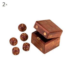Set de 2 juegos de dados con una caja