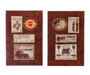 Set de 2 cuadros de MDF - marrón