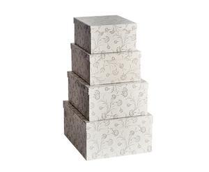 Set de 4 cajas flores