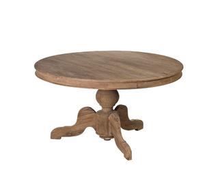 Mesa de comedor de madera lavada