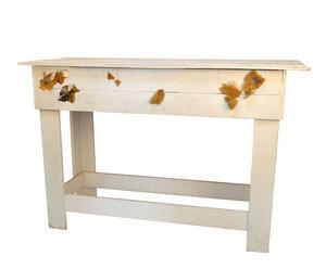 Mesa de madera con adornos marinos – Natural