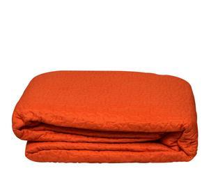 Colcha boutie reversible en microfibra, naranja – 270x250