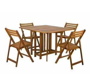 Juego de mesa con cuatro sillas Butterfly