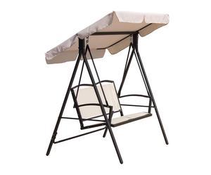 Balancín de hierro galvanizado con toldo – blanco