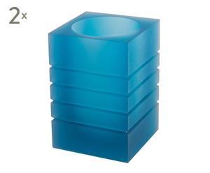 Set de 2 cubiletes en polirresina Picasso – azul