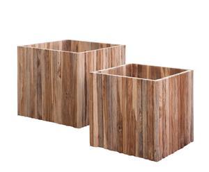 Macetero de madera – natural