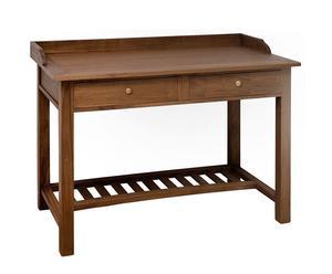 Mesa Escritorio con 2 Cajones, madera – marrón