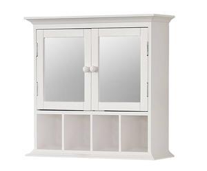 Mueble de Pared de madera Con Espejo – Blanco