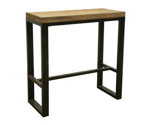Mesa alta en madera y metal