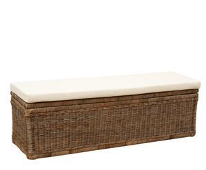 Banco - baúl rectangular con cojín