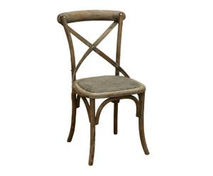 Silla colonial – gris antiguo