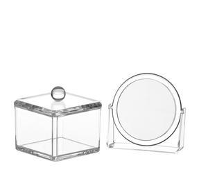 Set de espejo de baño de 5 aumentos y caja cuadrada