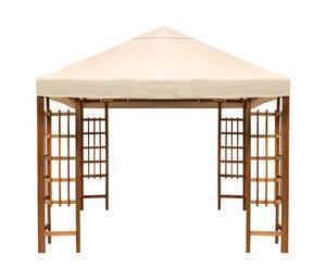 Cenador de estructura de madera