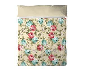 Set de sábana encimera y funda de cojín en algodón 100% Claudia – 210x270-45x155