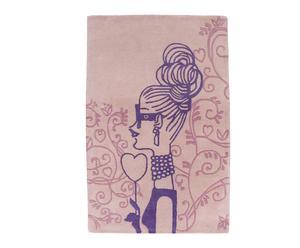 Alfombra en lana Sweet, rosa - 240x170