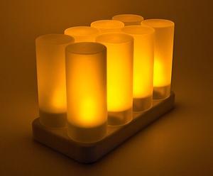 Set de 8 velas LED