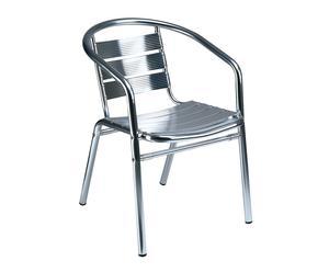 Set de 2 sillas apilables de aluminio