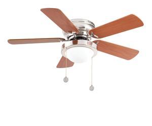 Lámpara de techo con ventilador Skye – niquel y marrón