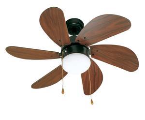 Lámpara de techo con ventilador Palao –marrón