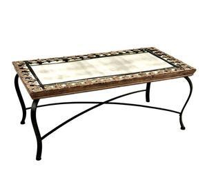 Mesa con tapa de espejo