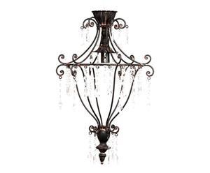 Lámpara de techo de forja – Negro