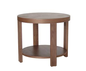 Mesa auxiliar de madera - redonda