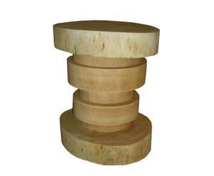 Taburete discos de madera natural – Beige
