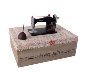 Costurero de madera máquina de coser – beige
