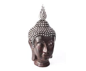 Cabeza de Buda de resina – negra