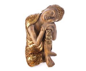 Figura de Buda recostado de resina – dorada