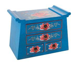 Joyero japonés de madera – azul