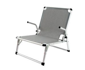 Silla Luxury de textileno y aluminio – gris