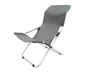 Tumbona Luxury de textileno y aluminio – gris