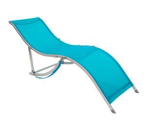 Tumbona Sling de textileno y aluminio – Azul